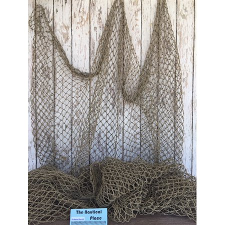 Authentic Fish Netting - 10 ft x 10 ft - Vintage Old Used Fishing Net - Recycled Reclaimed Commercial Fisherman's Fishnet -Nautical Maritime](Fish Netting)