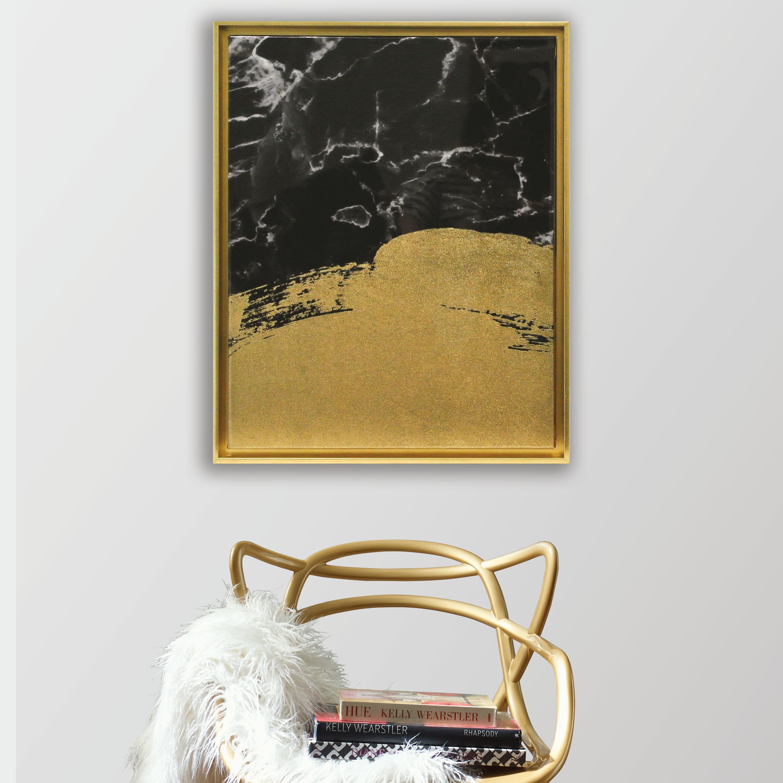 Marble Brushstrokes Framed High Gloss Canvas by York Wallcoverings, Inc