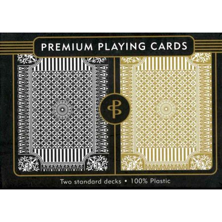 Black & Gold Premium Plastic Playing -