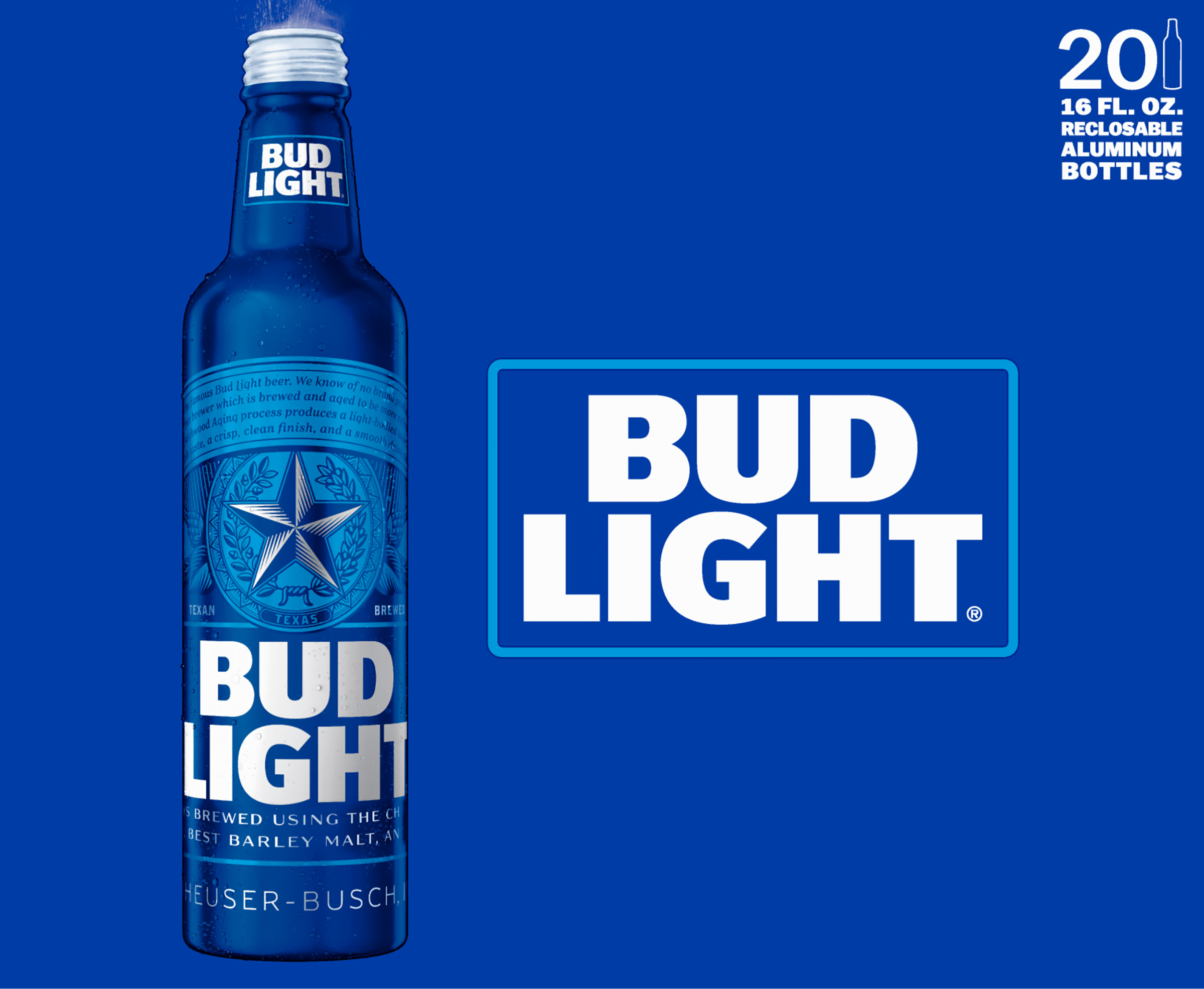 Lovely Bud Light Beer, 20 Pk 16 Fl. Oz. Aluminum Bottles   Walmart.com
