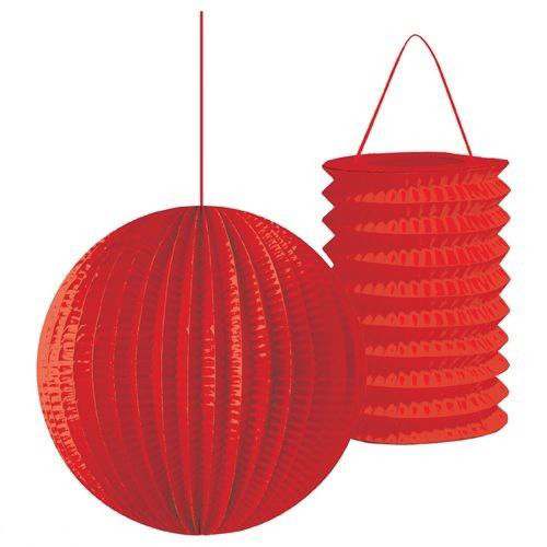 Red Paper Lanterns (2ct)
