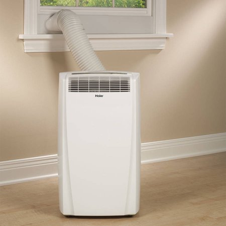 Haier HPB08CMLWB 8,000 BTU Portable Air Conditioner 115V with Remote, White, Factory-Reconditioned
