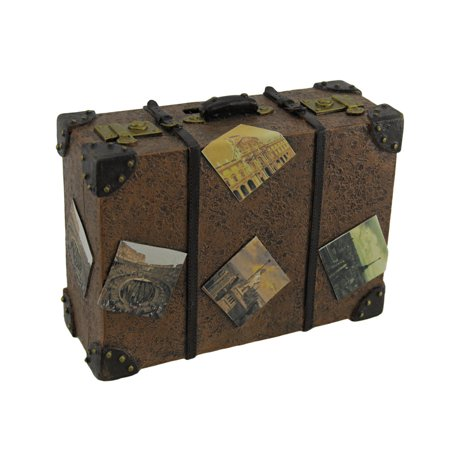 - Well Traveled Vintage Suitcase Coin Bank