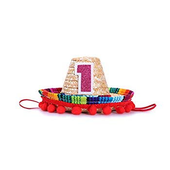 Pack of 24 Uno Sombrero Cupcake Toppers First Fiesta Mexican Theme Birthday Party Dessert Decorations