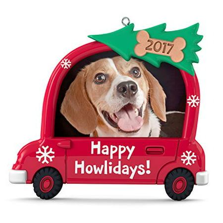 Hallmark Keepsake 2017 Happy Howlidays! Dog Picture Frame Dated Christmas Ornament - Christmas Ornament Frames