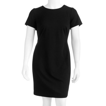 George Womens Plus Size Colorblock Classic Ponte Dress Walmart