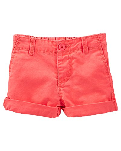 OshKosh B'gosh Baby Girls' Twill Shorts - Orange - 9 Months