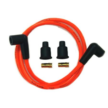 Orange Copper Core 7mm Spark Plug Wire Kit,for Harley Davidson,by V-Twin ()