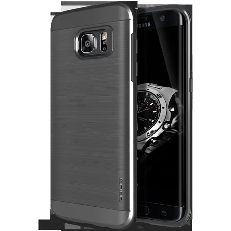 100% authentic d67e2 2c266 OBLIQ, Galaxy S7 Edge Case [Slim Meta][Titanium Space Gray] Premium  Metallic Brushed Dual Layer TPU Inner PC Exterior Heavy Duty Protective  Anti ...