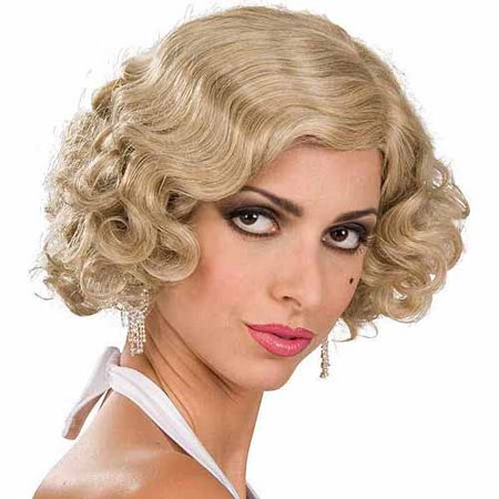 Blonde Flapper Wig Adult Halloween Costume - Dumb Blonde Halloween Costume