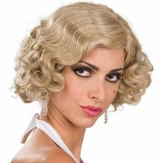 Blonde Flapper Wig Adult Halloween Costume Accessory