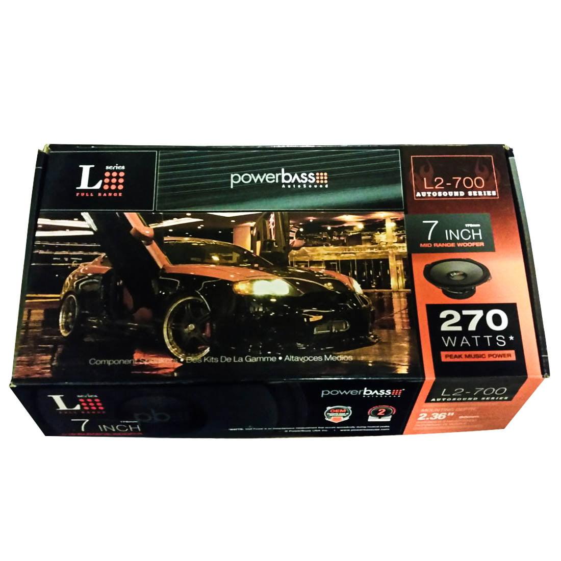 PowerBass L2-700 270 W Max Stereo Car Audio Mid Range