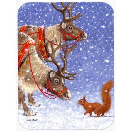 Carolines Treasures ASA2016LCB Reindeers & Squirrel Glass Cutting Board, Large - image 1 de 1