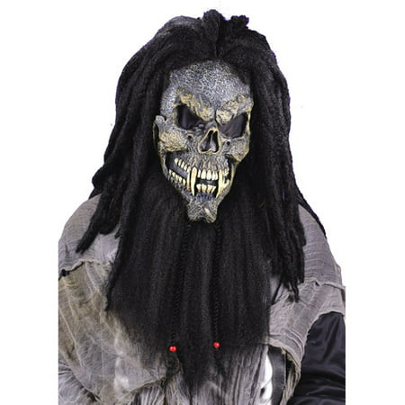 Fearsome Faces Skull Mask Adult Halloween Accessory - Painting A Skull Face For Halloween