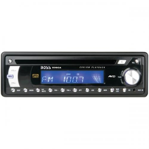 BOSS AUDIO 506CA Single-DIN In-Dash CD Receiver with Detachable Face