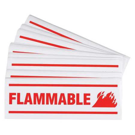 BRADY 857 Hazardous Warning Label, PK100