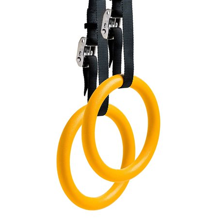 Reehut gymnastic rings with adjustable straps metal buckles & ebook