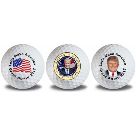 Donald Trump 3 Ball Gift Pack Titleist Pro V1 Golf (Pro V Golf Balls Best Price)