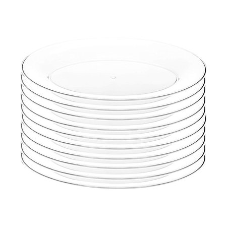 Impressive Creations Clear Oval Plastic Serving Tray Platter (10 PK) 8