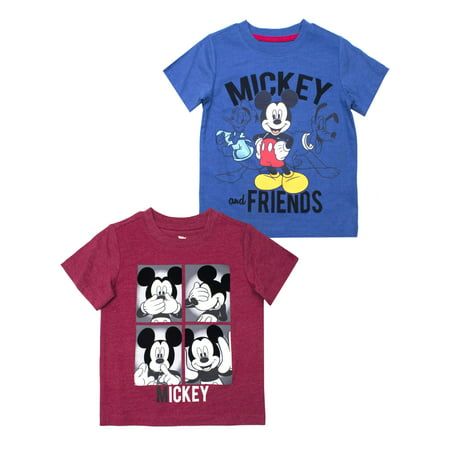 Mickey Mouse Short Sleeve T-Shirt, 2pk (Toddler Boys)](Toddler Boy Halloween T Shirts)