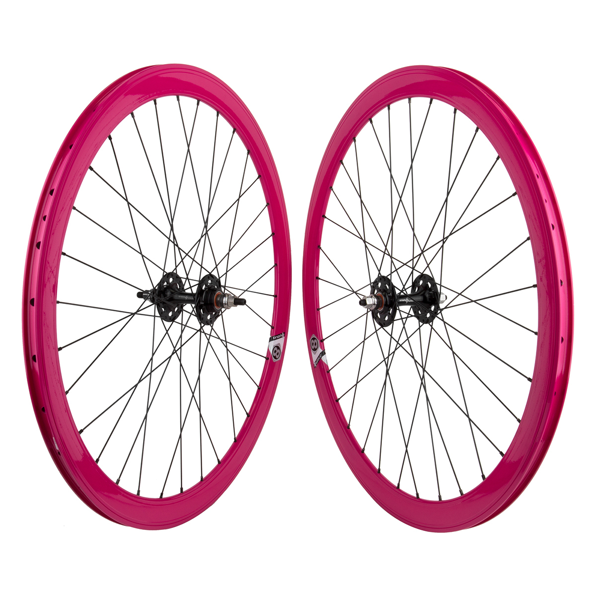 Origin8 TA42 700c Bike Wheelset Pink NMSW FX/FX Sealed Hub