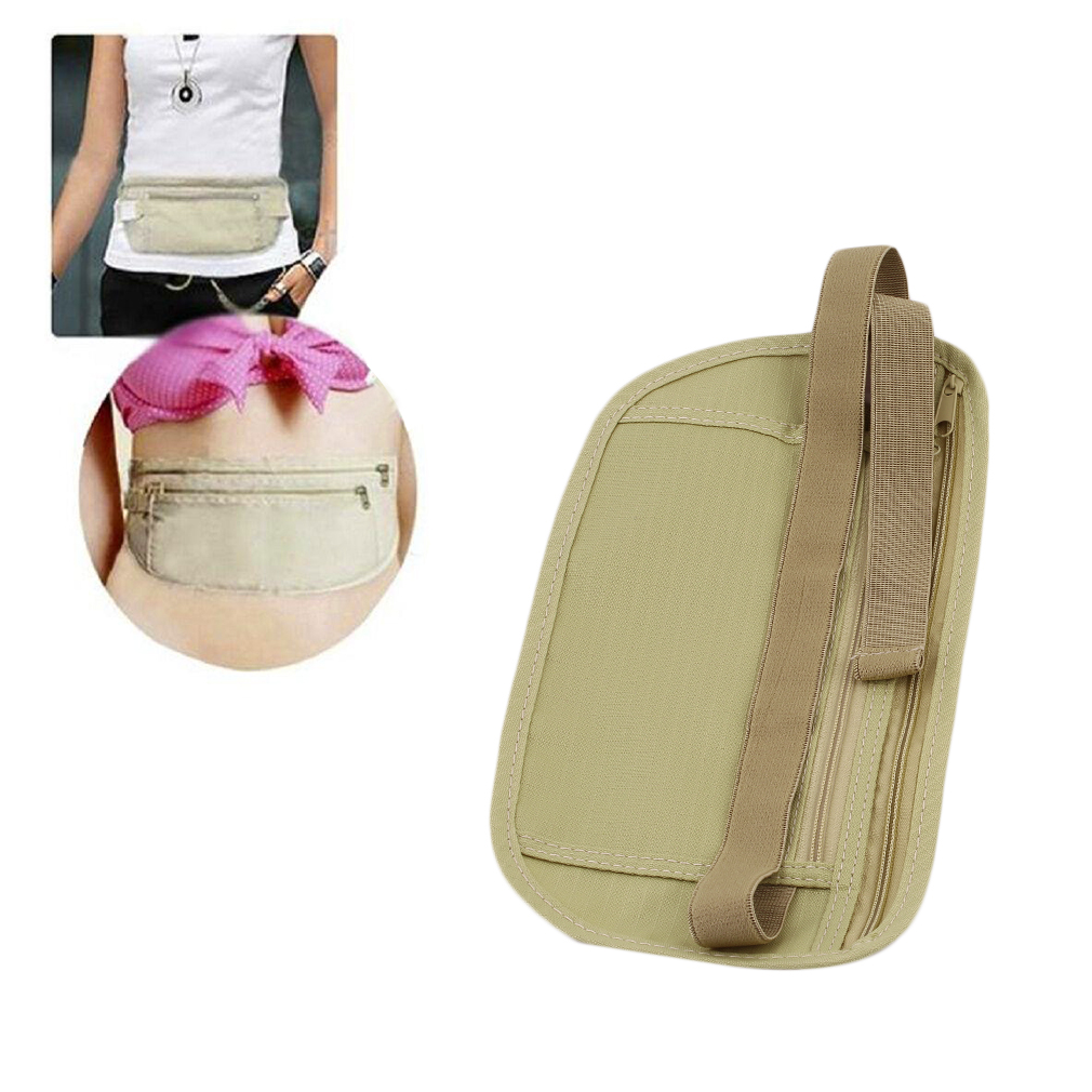 2017 OUTAD 2PCS Unisex Travel Anti-theft Waist Belt Super Light Running Money Phones Waist Bag