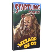 Lord Mischief Entertainment Startling Stories Lion by Andrea Alvin Vintage Advertisement on Wrapped Canvas