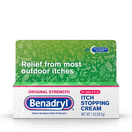 Original Strength Anti-Itch Relief Cream for Most Outdoor Itches, Topical Analgesic, 1 oz (Pack of 2) Benadryl - Anti-Itch