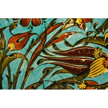 canvas print art tile decorative mosaic colorful ceramic stretched canvas 10 x 14