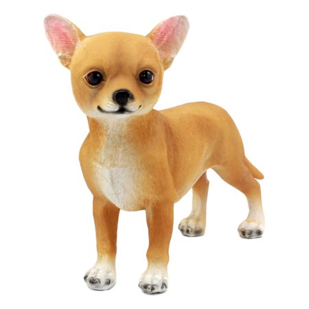 Wood Deer Head (Ebros Adorable Chiquito Chihuahua Dog Statue 7.75