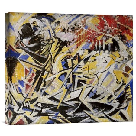 Global Gallery The Dynamic Sensation Of The Dance By Jules Schmalzigaug Painting Print On Wrapped Canvas