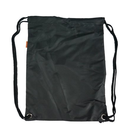 Drawstring Backpack Gymsack Sport Cinch Bag Gym Bag Shoe Bag Wet Tote Bag, Black