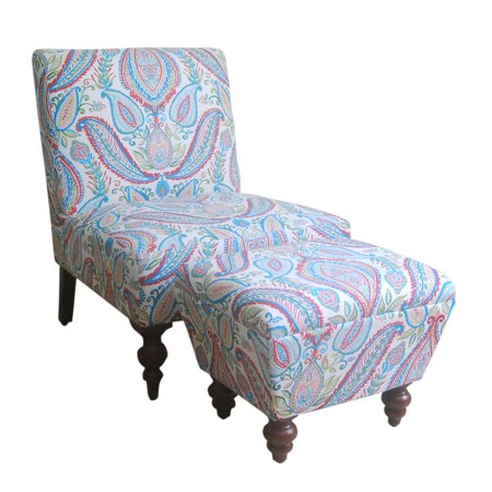 Asia Chair (HomePop Susan Armless Accent Chair/ Ottoman Set, Multiple Colors )