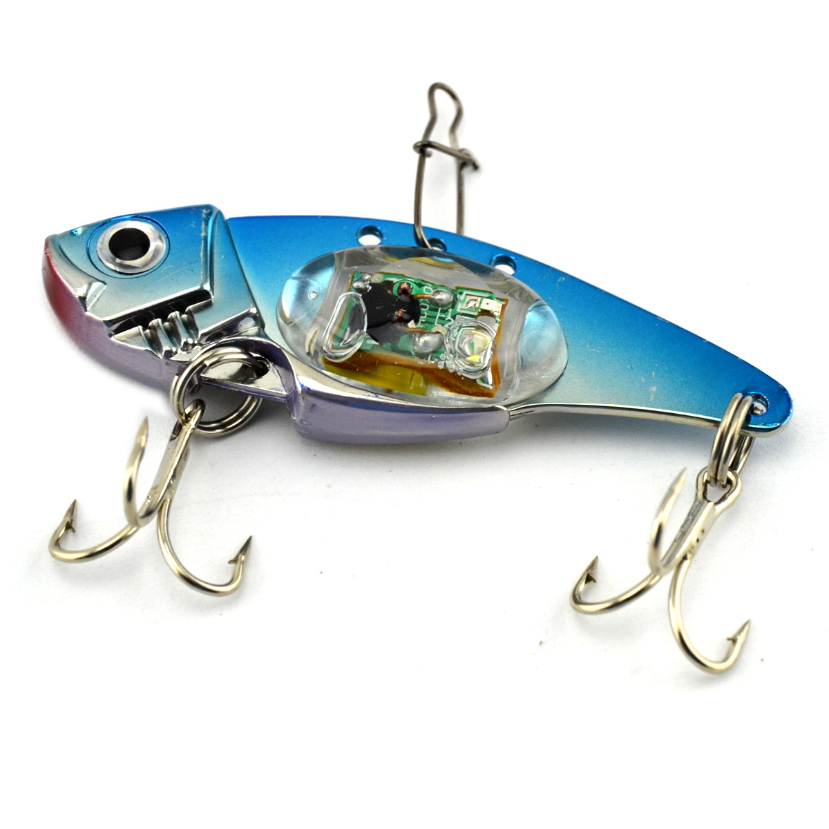 Alloy Lifelike Fishing Lure Bait Underwater Vibration Sinking Artificial Lures with Flash LED Light by Unbranded