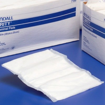 Kendall Curity Abdominal Pad, 8 X 10 Inch, Sterile, Covidien # 7198D - Pack of 18 Curity Eye Pads Box