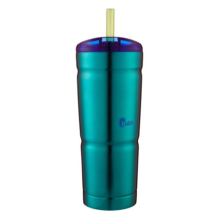Bubba Envy 24 Ounce Vacuum Insulated Stainless Steel Island Teal Tumbler with Straw, 1 - Plastic Cups With Straws