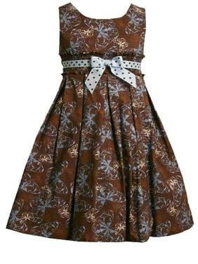 6ed65d7679 Product Image Bonnie Jean Little Girls 2T-6X Brown Blue Butterfly Print  Cotton Fit Flare Cotton