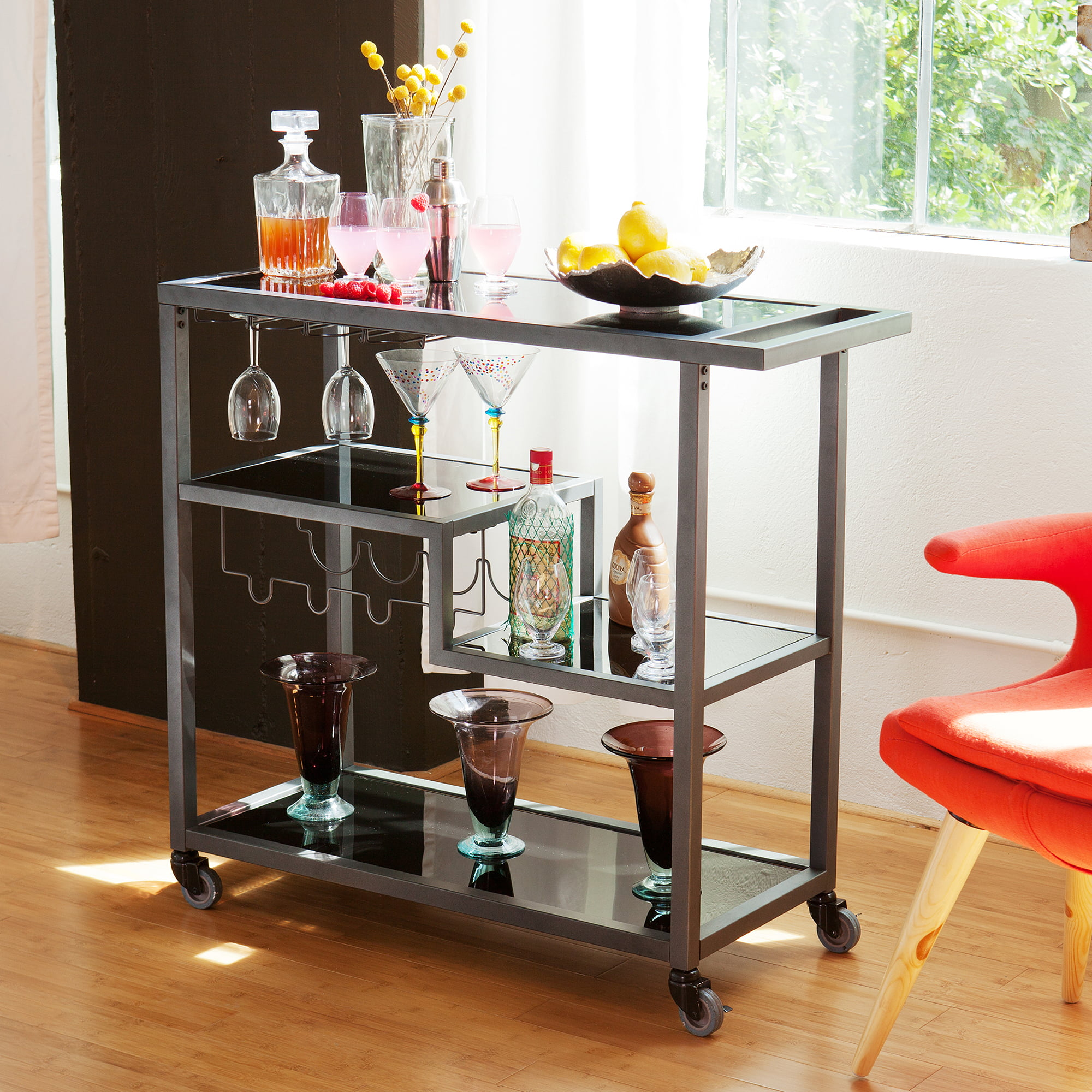 Holly Martin Zephs Bar Cart Grey Walmartcom