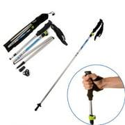 2pcs Agptek Trekking Pole Collapsible Alpenstocks Ultralight Adjustable Hiking Stick