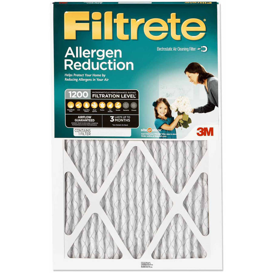 Filtrete Allergen Reduction HVAC Furnace Air Filter, 1200 MPR, 20 x 20 x 1, 1 Filter