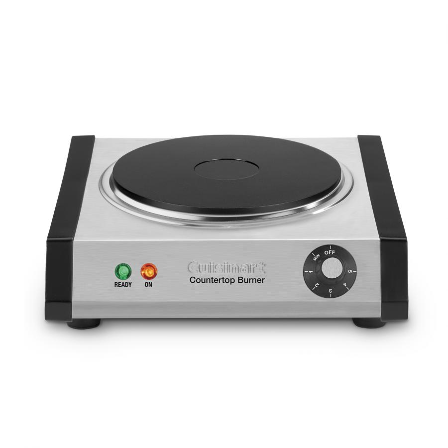 Cuisinart 1300 Watt Countertop Single Electric Burner with 6 Heat Settings and Brushed Stainless-Steel Housing