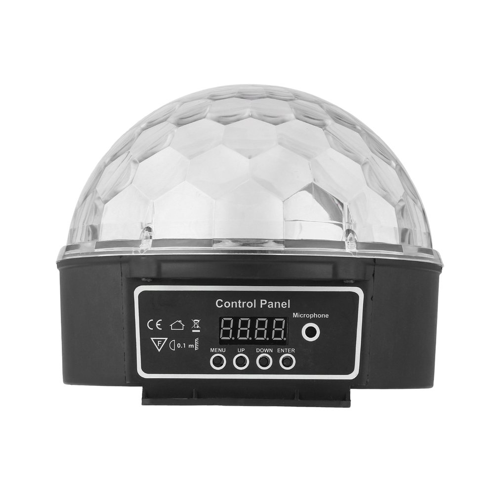 6 Colors LED Crystal Magic Ball Effect Light Disco DJ Stage Party by Music