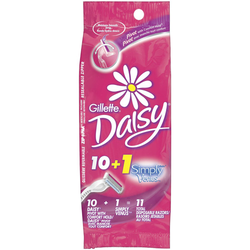 Gillette Daisy, Disposables, Comfort Hold Pivot, 10ct + Bonus