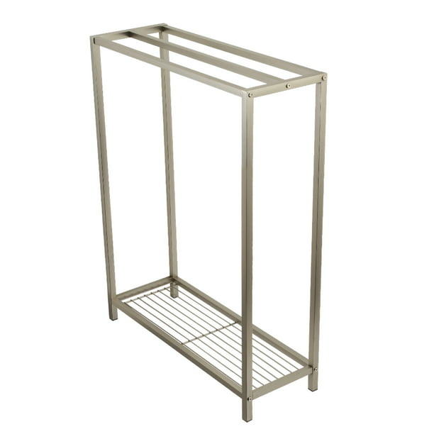 Kingston Brass Scc8358 Edenscape Freestanding Iron Towel Rack Brushed Nickel Walmart Com Walmart Com