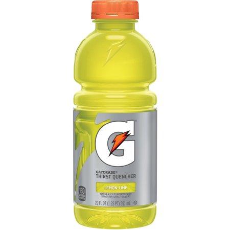 Gatorade G Lemon-Lime Thirst Quencher Sports Drink, 20 fl oz, 24-pack