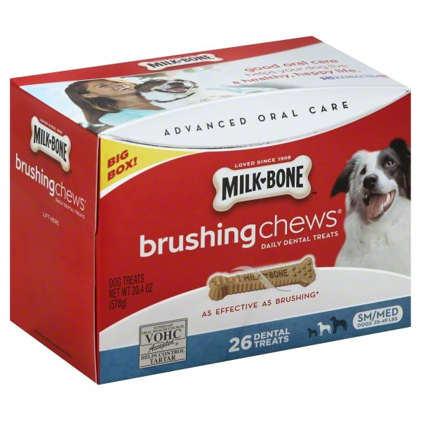 Milk-Bone Brushing Chews For Small/Medium Dogs, 20.4-Ounce