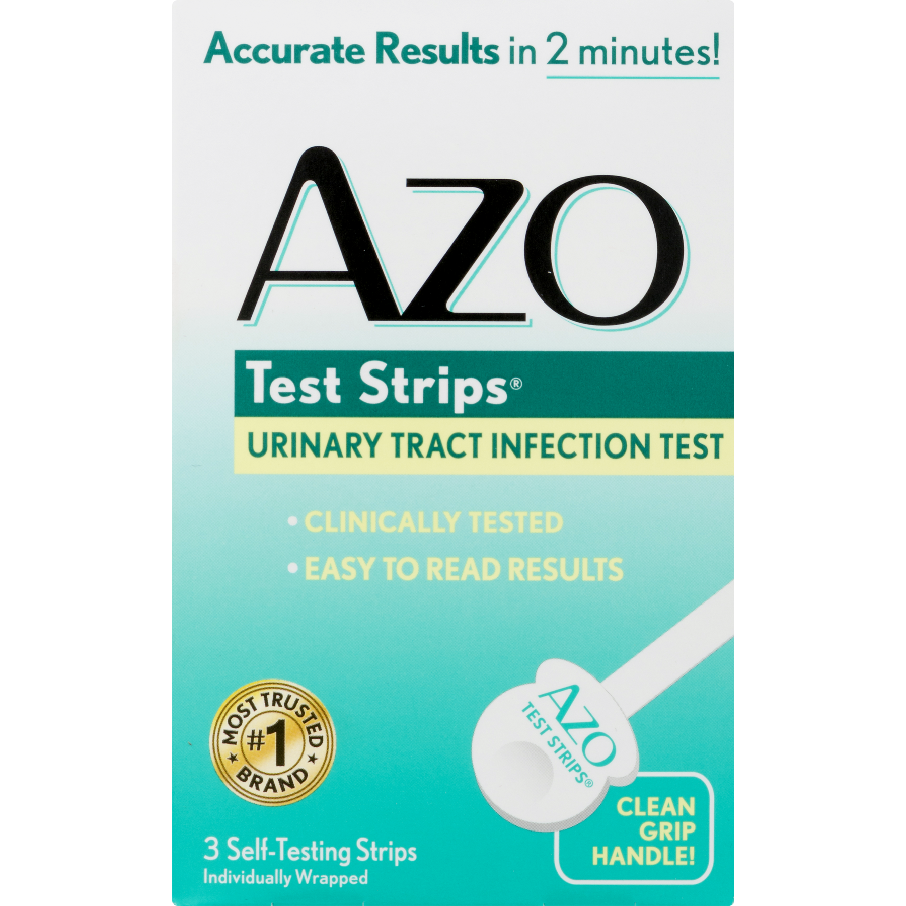 Azo test strips urinary tract infection test 3 ct walmart falaconquin