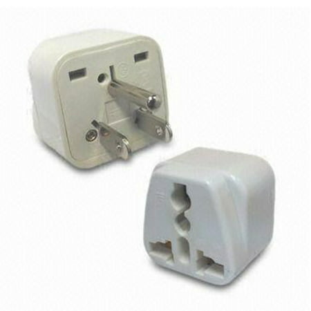 Universal to American Grounded Plug Adapter