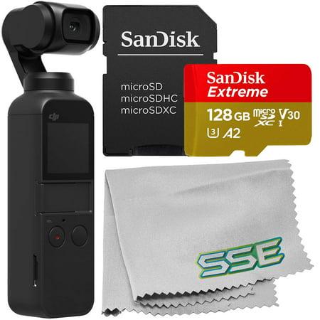 DJI Osmo Pocket Gimbal with SanDisk Ultra 128GB microSDXC Memory Card -