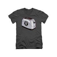 Battlestar Galactica TV Series Funny Cylon Toaster Adult V-Neck T-Shirt Tee